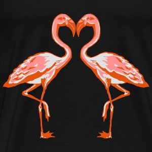 two flamingos Sweat-shirts - T-shirt Premium Homme