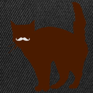 Cat Moustache T-Shirts - Snapback Cap