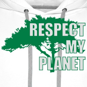 Respect My Planet Tee shirts - Sweat-shirt à capuche Premium pour hommes