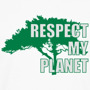 Respect My Planet T-shirts - Herre premium T-shirt med lange ærmer