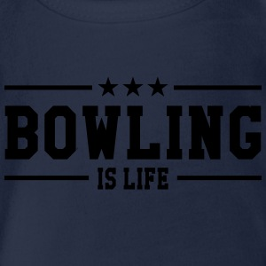Bowling is life Tee shirts - Body bébé bio manches courtes