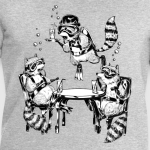Racoon Underwater Gin Party Tee shirts - Sweat-shirt Homme Stanley & Stella