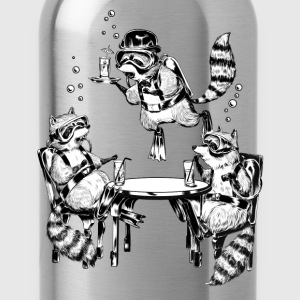 Racoon Underwater Gin Party T-Shirts - Trinkflasche