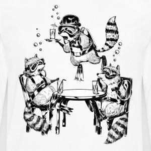 Racoon Underwater Gin Party  Aprons - Men's Premium Longsleeve Shirt