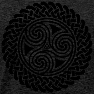 Triple Spiral in Celtic band hoodie - Men's Premium T-Shirt