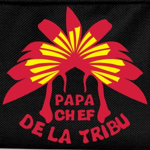 papa chef tribu coiffe indienne Tee shirts - Sac à dos Enfant