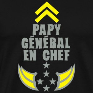 papy general chef arme etoile 5 Sweat-shirts - T-shirt Premium Homme