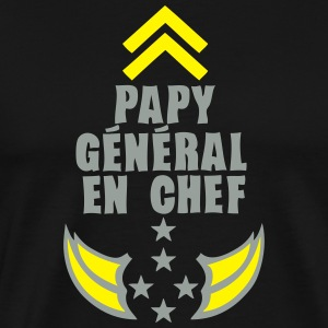 papy general chef arme etoile 5 Tabliers - T-shirt Premium Homme