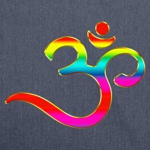 Om, Symbol, Rainbow, Buddhism, Mantra, Meditation, T-Shirts - Shoulder Bag made from recycled material