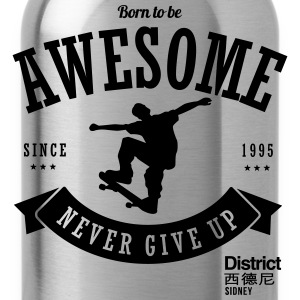Geburtstag 1995 Awesome Skate T-Shirts - Trinkflasche