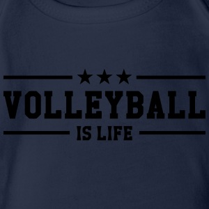 Volleyball is life T-Shirts - Baby Bio-Kurzarm-Body
