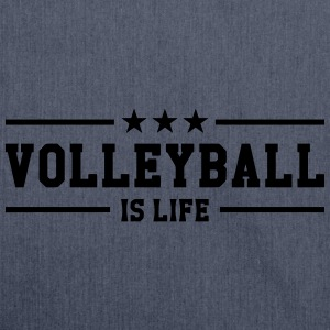 Volleyball is life Tee shirts - Sac bandoulière 100 % recyclé