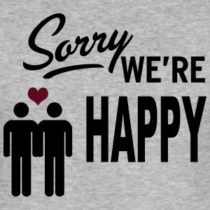 Sorry we are happy - boys Sweat-shirts - Tee shirt près du corps Homme