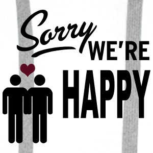 Sorry we are happy - boys Buttons - Mannen Premium hoodie