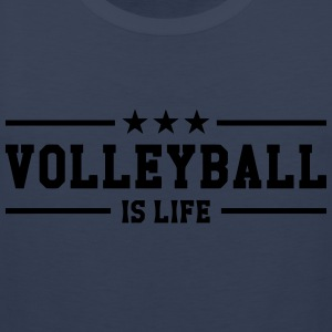 Volleyball is life Shirts - Mannen Premium tank top