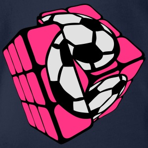 cube ballon football soccer rubi forme Tee shirts - Body bébé bio manches courtes