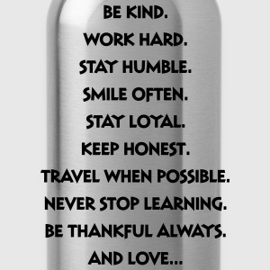 Words Of Wisdom T-Shirts - Water Bottle