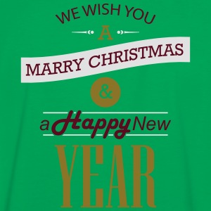 We wish you a Merry Christmas & a Happy New Year Taschen & Rucksäcke - Männer Kontrast-T-Shirt