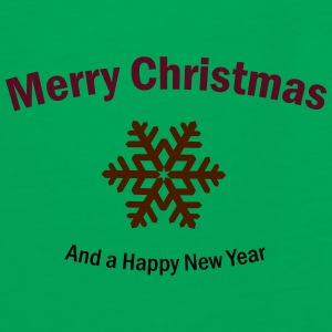 Merry Christmas and a Happy New Year Taschen & Rucksäcke - Männer Kontrast-T-Shirt
