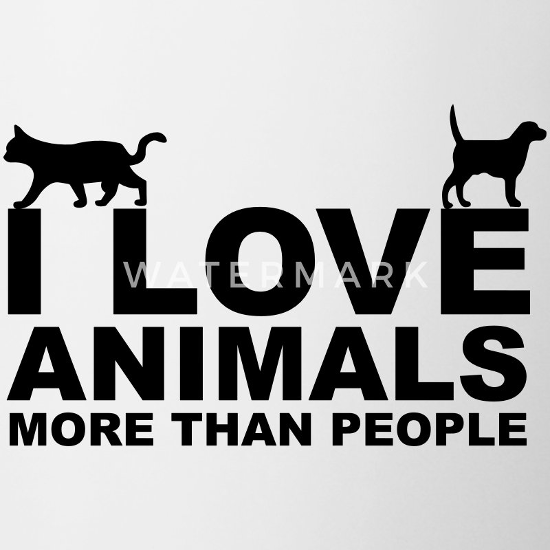 I Love Animals Bottles & Mugs - Mug