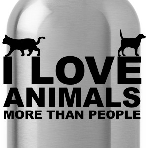 I Love Animals T-Shirts - Water Bottle