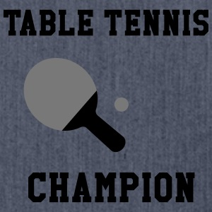 Table Tennis Champion Shirts - Shoulder Bag made from recycled material