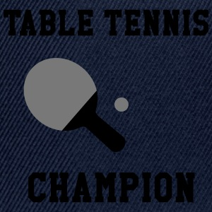 Table Tennis Champion T-Shirts - Snapback Cap