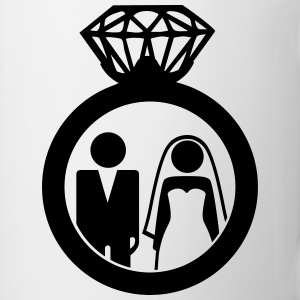 Just Married wedding couple ring - Hochzeitspaar Handy & Tablet Hüllen - Tasse