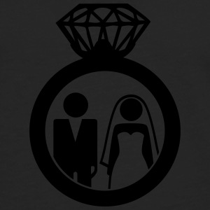 Just Married wedding couple ring - Hochzeitspaar T-Shirts - Men's Premium Longsleeve Shirt