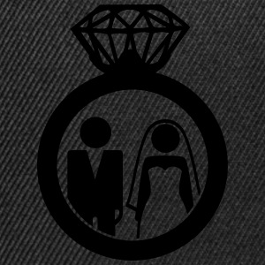 Just Married wedding couple ring - Hochzeitspaar T-Shirts - Snapback Cap