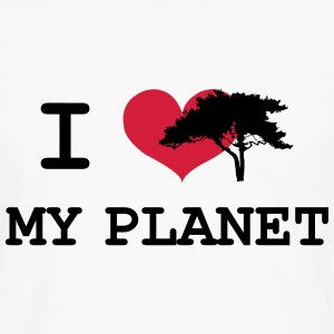 I Love my Planet Tee shirts - T-shirt manches longues Premium Homme