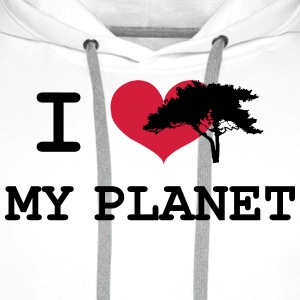 I Love my Planet Tee shirts - Sweat-shirt à capuche Premium pour hommes