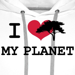 I Love my Planet Shirts - Men's Premium Hoodie