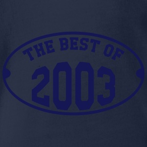 The Best of 2003 Shirts - Organic Short-sleeved Baby Bodysuit