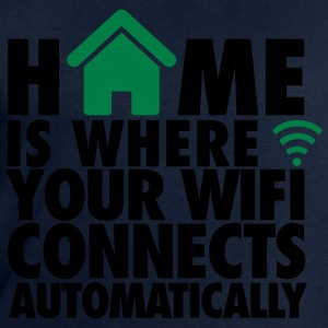 Home is where your wifi connects automatically T-shirts - Mannen sweatshirt van Stanley & Stella