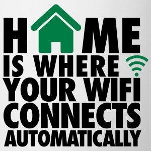 Home is where your wifi connects automatically T-shirts - Mok