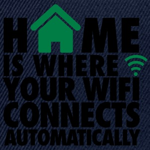 Home is where your wifi connects automatically T-Shirts - Snapback Cap