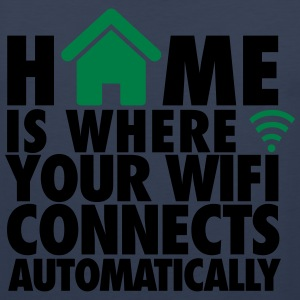 Home is where your wifi connects automatically T-shirts - Mannen Premium tank top