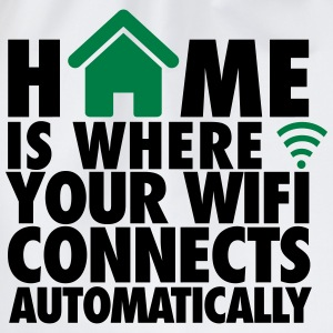 Home is where your wifi connects automatically T-shirts - Gymnastikpåse