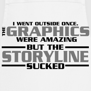 I went outside: graphics amazing, stroyline sucked Nerd T-Shirts - Kochschürze