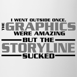 I went outside: graphics amazing, stroyline sucked Nerd T-Shirts - Tasse