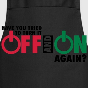 Have you tried to turn if off and on again? T-shirts - Keukenschort