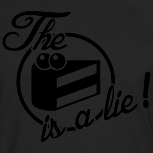 The cake is a lie! T-shirts - Långärmad premium-T-shirt herr