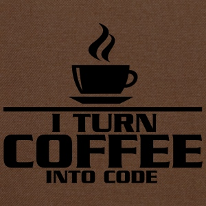 I turn coffe into code Magliette - Tracolla