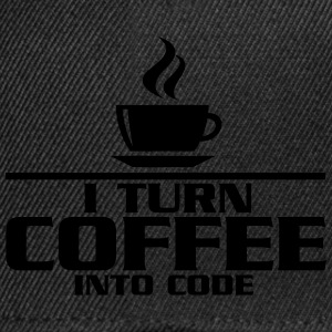 I turn coffe into code T-Shirts - Snapback Cap