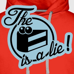 The cake is a lie! T-shirts - Herre Premium hættetrøje