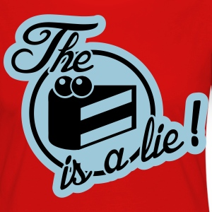 The cake is a lie! Tee shirts - T-shirt manches longues Premium Femme