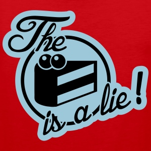 The cake is a lie! T-shirts - Premiumtanktopp herr