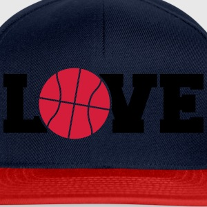 Love Basketball Logo Design Camisetas - Gorra Snapback