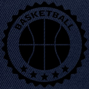 Basketball Stamp Logo Design Camisetas - Gorra Snapback